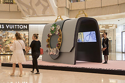 May 24, 2017 - Shanghai, Shanghai, China - Shanghai, CHINA-May 24 2017: (EDITORIAL USE ONLY. CHINA OUT) Three 2-meter-tall luxurious handbags can be seen at a shopping mall in Shanghai, May 24th, 2017. (Credit Image: © SIPA Asia via ZUMA Wire)