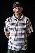Javier Calvelo/ URUGUAY/ MONTEVIDEO/ FOTOGRAFIA/ Expoprado - Exposicion Rural del Prado de Montevideo/ Proyecto documental sobre la identidad, lo nacional, lo Uruguayo. Se trata de retratos simples mirando a camara y con un fondo neutro. Les pregunto a los fotografiados como quieren ser recordados en el futuro y de que localidad del Uruguay son.<br /> El titulo esta basado en la obra de Raymond Firth, Tipos Humanos. (Raymond William Firth, ( 1901-2002) fue un etnólogo neozelandés profesor de Antropología en la London School of Economics, es uno de los fundadores de la antropología económica británica). <br /> En la foto:  Tipos Humanos en Expoprado, Julio Fraga, Durazno. Foto: Javier Calvelo <br /> 2013-09-09 dia lunes