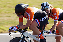 Joleen Hakker and Samantha Steenis of Netherlands compete during Women's Individual B Time Trial during Day 8 of the Summer Paralympic Games London 2012 on September 5, 2012, in Brands Hatch circuit near London, Great Britain. (Photo by Vid Ponikvar / Sportida.com)