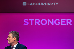 © Licensed to London News Pictures. 26/09/2021. Brighton, UK. KEIR STARMER . Delegates in the conference hall during a debate on new rules designed to counter anti-Semitism within the Labour Party. The second day of the 2021 Labour Party Conference , which is taking place at the Brighton Centre . Photo credit: Joel Goodman/LNP