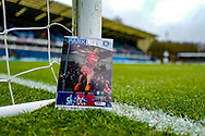 General view around the Adams Park stadium showing the match programme before the EFL Sky Bet League 1 match between Wycombe Wanderers and Plymouth Argyle at Adams Park, High Wycombe, England on 26 January 2019.