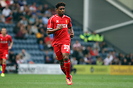 Liverpool's Jordon Ibe in action. Pre-season friendly match, Preston North End v Liverpool at Deepdale in Preston, England on Saturday 19th July 2014.<br /> pic by Chris Stading, Andrew Orchard sports photography.