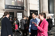 House of Fraser closing down sale central London. London was the only region in England that voted to remain in the EU referendum, but the British public as a whole voted to leave. Banking is just the tip of the iceberg with many other industries also making irrevocable decisions. The damage to the economy from Brexit is already afoot — so much so that the act of leaving the EU itself is, at this point, increasingly irrelevant. Businesses are closing, uncertainty reigns. Brexit is increasingly fraught with uncertainty after the UK's parliament rejected Prime Minister Theresa May's Brexit deal many times.