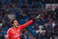 Real Madrid Kaylor Navas during return match of King's Cup between Real Madrid and Fuenlabrada at Santiago Burnabeu Stadium in Madrid, Spain. November 28, 2017. (ALTERPHOTOS/Borja B.Hojas)