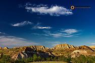 Burning Coal Vein badland formations in the Little Missouri National Grasslands, North Dakota, USA