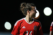 Hayley Ladd of Wales looks on.  Friendly International Womens football, Wales Women v Republic of Ireland Women at Rodney Parade in Newport, South Wales on Friday 19th August 2016.<br /> pic by Andrew Orchard, Andrew Orchard sports photography.