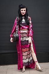 Fashionista Elle Shoel during London Fashion Week Autumn/Winter 2017 in London.  Picture date: Saturday 18th February 2017. Photo credit should read: DavidJensen/EMPICS Entertainment