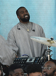 Kanye West is all smiles as he brings his Sunday Service to Miami the morning ahead of Super Bowl LIV. Preacher and friend Rich Wilkerson Jr. was in attendance to deliver the sermon between songs. 02 Feb 2020 Pictured: Kanye West. Photo credit: MEGA TheMegaAgency.com +1 888 505 6342