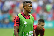 Portugal Midfielder Nani in warm up during the Euro 2016 final between Portugal and France at Stade de France, Saint-Denis, Paris, France on 10 July 2016. Photo by Phil Duncan.