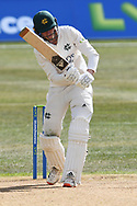 Lyndon James of Nottinghamshire during the LV= Insurance County Championship match between Nottinghamshire County Cricket Club and Durham County Cricket Club at Trent Bridge, Nottingham, United Kingdom on 11 April 2021.