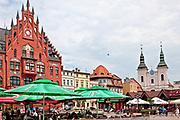 2011-07-08. Ratusz i rynek w Chojnicach.