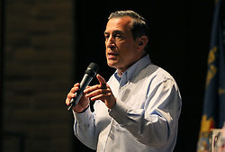 June 3, 2017 - San Juan Capistrano, California, United States - June 3, 2017_San Juan Capistrano, California_USA_| Darrell Issa speaks at the Town Hall Meeting in the theater at San Juan Hills High School. |_Photo Credit: Photo by Charlie Neuman (Credit Image: © Charlie Neuman via ZUMA Wire)