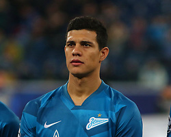 November 5, 2019, Saint-Petersburg, Russia: Russian Federation. Saint-Petersburg. Gazprom Arena. Football. UEFA Champions League. Group G. round 4. Football club Zenit - Football Club RB Leipzig. Player of Zenit football club Jordan Osorio (Credit Image: © Russian Look via ZUMA Wire)