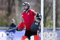 AMSTELVEEN -  Adinda Boeren van Pinoke tijdens de competitiewedstrijd van de hoofdklasse hockey tussen de vrouwen van Pinoke en Den Bosch (0-6). COPYRIGHT KOEN SUYK