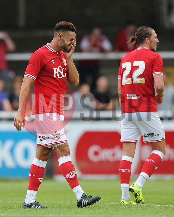 Derrick Williams of Bristol City - Photo mandatory by-line: Dougie Allward/JMP - Mobile: 07966 386802 - 10/07/2015 - SPORT - Football - Bath - Twerton Park - Pre-Season Friendly