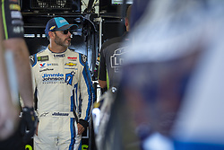 July 13, 2018 - Sparta, Kentucky, United States of America - Jimmie Johnson (48) gets ready to practice for the Quaker State 400 at Kentucky Speedway in Sparta, Kentucky. (Credit Image: © Stephen A. Arce/ASP via ZUMA Wire)