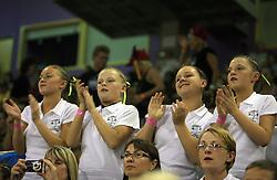 Fans at European Cheerleading Championship 2008, on July 5, 2008, in Arena Tivoli, Ljubljana, Slovenia. (Photo by Vid Ponikvar / Sportal Images).