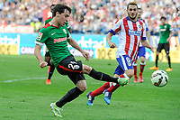 Atletico de Madrid´s Koke and Athletic Club´s Unai Lopez during 2014-15 La Liga match between Atletico de Madrid and Athletic Club at Vicente Calderon stadium in Madrid, Spain. May 02, 2015. (ALTERPHOTOS/Luis Fernandez)