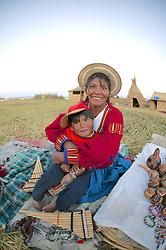 Uros People On Floating Island