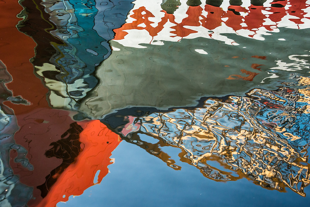 Abstract Inner Harbor Reflections, Baltimore