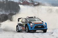MOTORSPORT - WORLD RALLY CHAMPIONSHIP 2012 - RALLY SWEDEN / RALLYE DE SUEDE - 08 TO 12/02/2012 - KARLSTAD (SWE) - PHOTO : FRANCOIS BAUDIN /  DPPI - MADS OSTBERG FORD FIESTA WRC ACTION