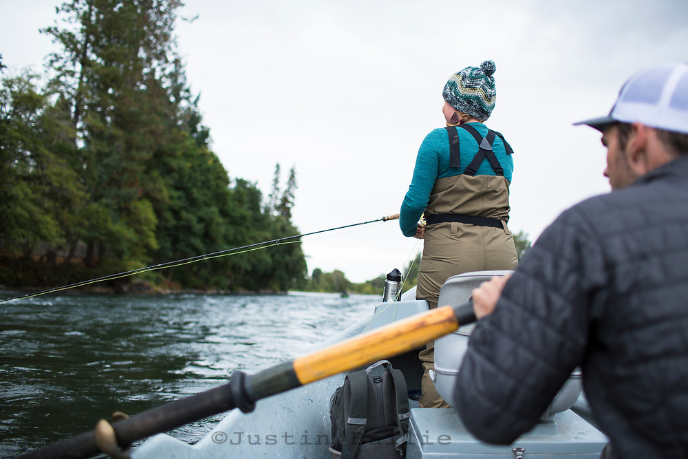 Fly fishing the Rogue River in southern Oregon.