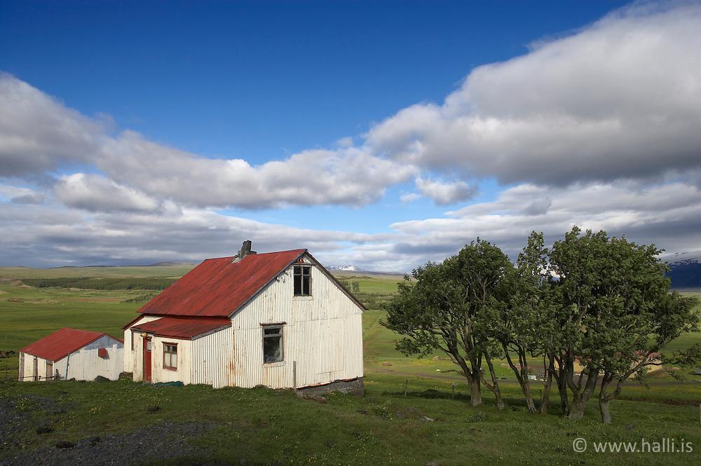 Bærinn Torfastaðir í Fljótshlíð / The farm, Torfastadir in Fljotshlid