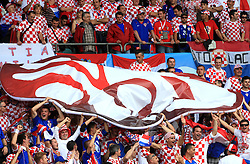 Fans of Croatia before the UEFA EURO 2008 Group B soccer match between Austria and Croatia at Ernst-Happel Stadium, on June 8,2008, in Vienna, Austria.  (Photo by Vid Ponikvar / Sportal Images)