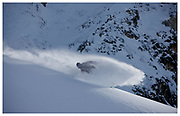 James Hull in Les Arcs, France. Shot for The Reason Snowboard Magazine