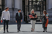 Chancellor of the Exchequer Rishi Sunak walks through from the foreign office to Downing Street in London, Friday, May 29, 2020 - after the introduction of measures to bring the country out of lockdown. (Photo/ Vudi Xhymshiti)