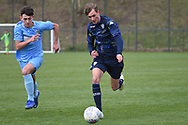 Leeds United forward Niklas Haughland on the attack during the U18 Professional Development League match between Coventry City and Leeds United at Alan Higgins Centre, Coventry, United Kingdom on 13 April 2019.
