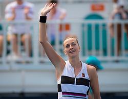 March 23, 2019 - Miami, FLORIDA, USA - Petra Kvitova of the Czech Republic celebrates winning her third-round match at the 2019 Miami Open WTA Premier Mandatory tennis tournament (Credit Image: © AFP7 via ZUMA Wire)