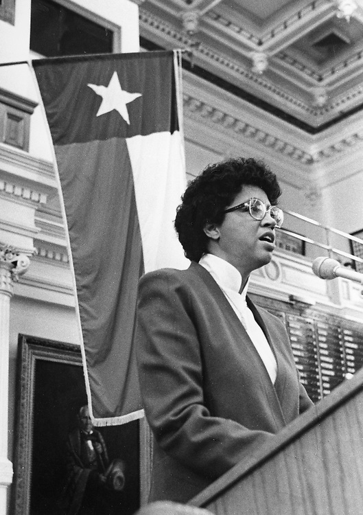 ©1985 Texas Secretary of State Myra McDaniel in a speech to the Texas House.