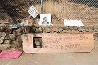 Native American Indian Protest Signs at Memorial Oak Grove, UC Berkeley, California