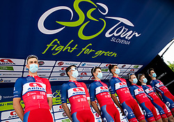 Kristijan HOCEVAR of ADRIA MOBIL, Gal GLIVAR of ADRIA MOBIL, David PER of ADRIA MOBIL, Ziga HORVAT of ADRIA MOBIL, Gasper KATRASNIK of ADRIA MOBIL, Aljaz JARC of ADRIA MOBIL, Aljaz OMRZEL of ADRIA MOBIL during 1st Stage of 27th Tour of Slovenia 2021 cycling race between Ptuj and Rogaska Slatina (151,5 km), on June 9, 2021 in Slovenia. Photo by Vid Ponikvar / Sportida