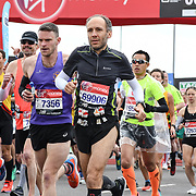 London, England, UK. 28 April 2019. Elite Start runners at Virgin Money London Marathon at Greenwich.