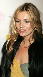Dec 01, 2006; New York, NY, USA; Model KATE MOSS at the benefit photographic auction for the Sam & Ruby Charity held at Milk Studios (Credit Image: © Nancy Kaszerman/ZUMAPRESS.com)
