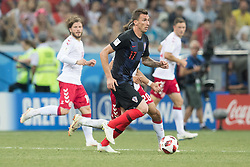 July 1, 2018 - Nizhny Novgorod, Russia - Mario Mandzukic of Croatia during the 2018 FIFA World Cup Russia Round of 16 match between Croatia and Denmark at Nizhny Novgorod Stadium on July 1, 2018 in Nizhny Novgorod, Russia. (Credit Image: © Foto Olimpik/NurPhoto via ZUMA Press)