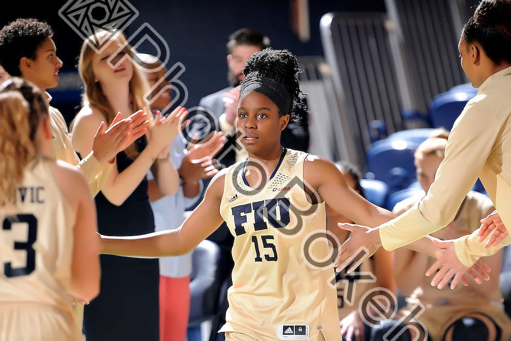 2016 February 20 - FIU's Kristian Hudson (15). <br /> Florida International University fell to Rice, 62-68, at FIU Arena, Miami, Florida. (Photo by: Alex J. Hernandez / photobokeh.com) This image is copyright by PhotoBokeh.com and may not be reproduced or retransmitted without express written consent of PhotoBokeh.com. ©2016 PhotoBokeh.com - All Rights Reserved