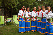 Barvalipe: The 2nd Roma Pride Summer Camp for young Roma from Central and Eastern Europe at Szentendre Island near Budapest, Hungary. Theater group of Roma children from Mazedonia which held a surprise performance.