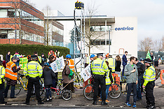 2019-02-22 Protesters erect fracking rig outside Centrica HQ
