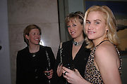Emma Rutter, Lady Alexandra Spencer-Churchill and Kathryn Cullen. 'The Road to Abtsraction' an exhibition of paintings by Rosita Marlborough. the Fleming Collection. 13 Berkeley St. London W1. 31 March 2005. ONE TIME USE ONLY - DO NOT ARCHIVE  © Copyright Photograph by Dafydd Jones 66 Stockwell Park Rd. London SW9 0DA Tel 020 7733 0108 www.dafjones.com