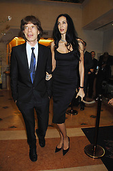 MICK JAGGER and L'WREN SCOTT at the Feast of Albion a sumptious locally-sourced banquet in aid of The Soil Association held at The Guildhall, City of London on 12th March 2008.<br />