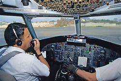Pilots Getting Ready For Take Off, BAC 111 401-AK