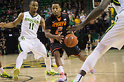 WACO, TX - JANUARY 5: Tyree Griffin #2 of the Oklahoma State Cowboys brings the ball up court against the Baylor Bears on January 5, 2016 at the Ferrell Center in Waco, Texas.  (Photo by Cooper Neill/Getty Images) *** Local Caption *** Tyree Griffin