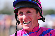 20 March 2010 : Bernard Dalton is all smiles in the paddock before riding Here Comes Art in the fourth race.