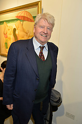 STANLEY JOHNSON at a private view of works by Fernando Botero held at the Opera Gallery London, 134 New Bond Street, London on 10th February 2015.