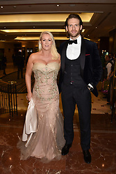 Friederike Krum and Craig McGinlay at The Asian Awards, The Hilton Park Lane, London England. 5 May 2017.<br /> Photo by Dominic O'Neill/SilverHub 0203 174 1069 sales@silverhubmedia.com