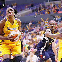 03 August 2014: Los Angeles Sparks forward Nneka Ogwumike (30) eyes the basket during the Los Angeles Sparks 70-69 victory over the Connecticut Sun, at the Staples Center, Los Angeles, California, USA.