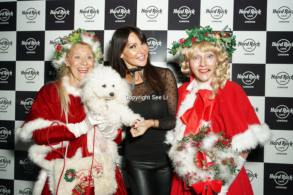 Hard Rock Cafe London, England, UK. 4th Dec 2017. Miss Christmas,Lizzy Cundy,Mistletoe,snowflake Arrivals at Fight For Life Charity Event of Christmas festivities and entertainment for children with cancer.